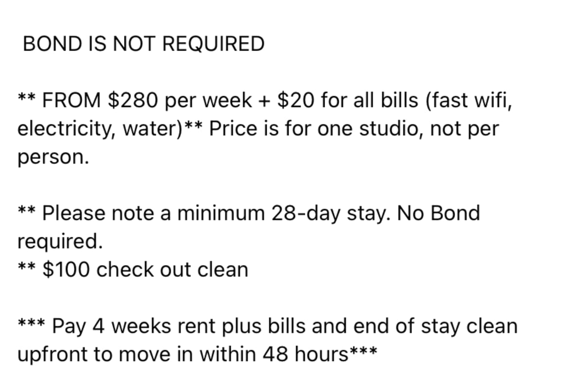 mckenzie robinson (18), $325, Non-smoker, No pets, and No children