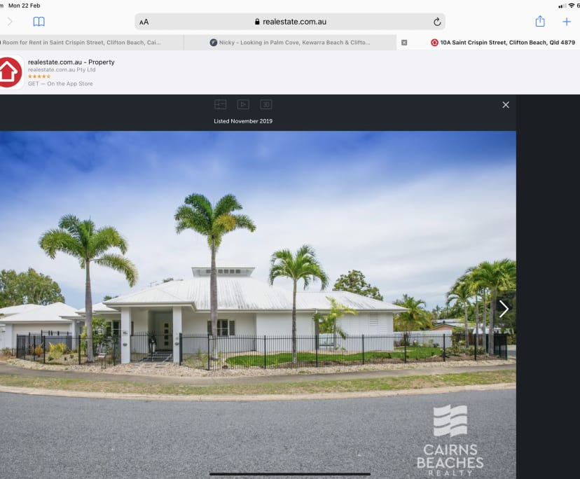 $250-275, Share-house, 2 rooms, Saint Crispin Street, Clifton Beach QLD 4879, Saint Crispin Street, Clifton Beach QLD 4879