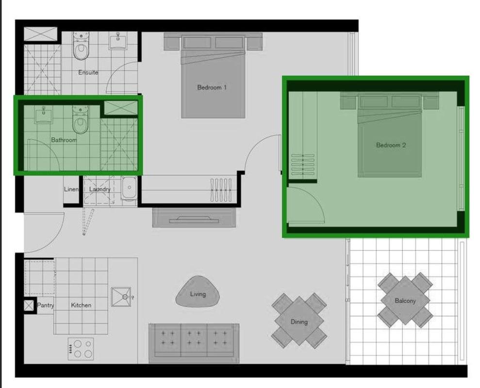 $250, Flatshare, 2 bathrooms, King Street, Bowen Hills QLD 4006
