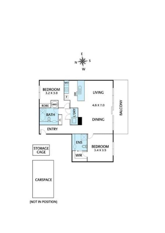 $300, Flatshare, 2 bathrooms, Elaine Court, Richmond VIC 3121