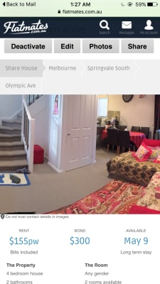 $165, Share-house, 4 bathrooms, Olympic Avenue, Springvale South VIC 3172