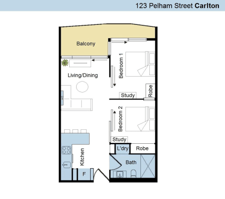 $850, Whole-property, 2 bathrooms, Pelham Street, Carlton VIC 3053