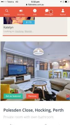 $130, Share-house, 4 bathrooms, Polesden Close, Hocking WA 6065