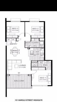 $195-270, Flatshare, 2 rooms, Harold Street, Highgate WA 6003, Harold Street, Highgate WA 6003
