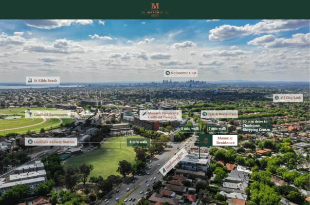 $320, Student-accommodation, 6 bathrooms, Dandenong Road, Malvern East VIC 3145