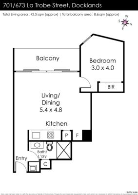 $490, 1-bed, 1 bathroom, La Trobe Street, Docklands VIC 3008
