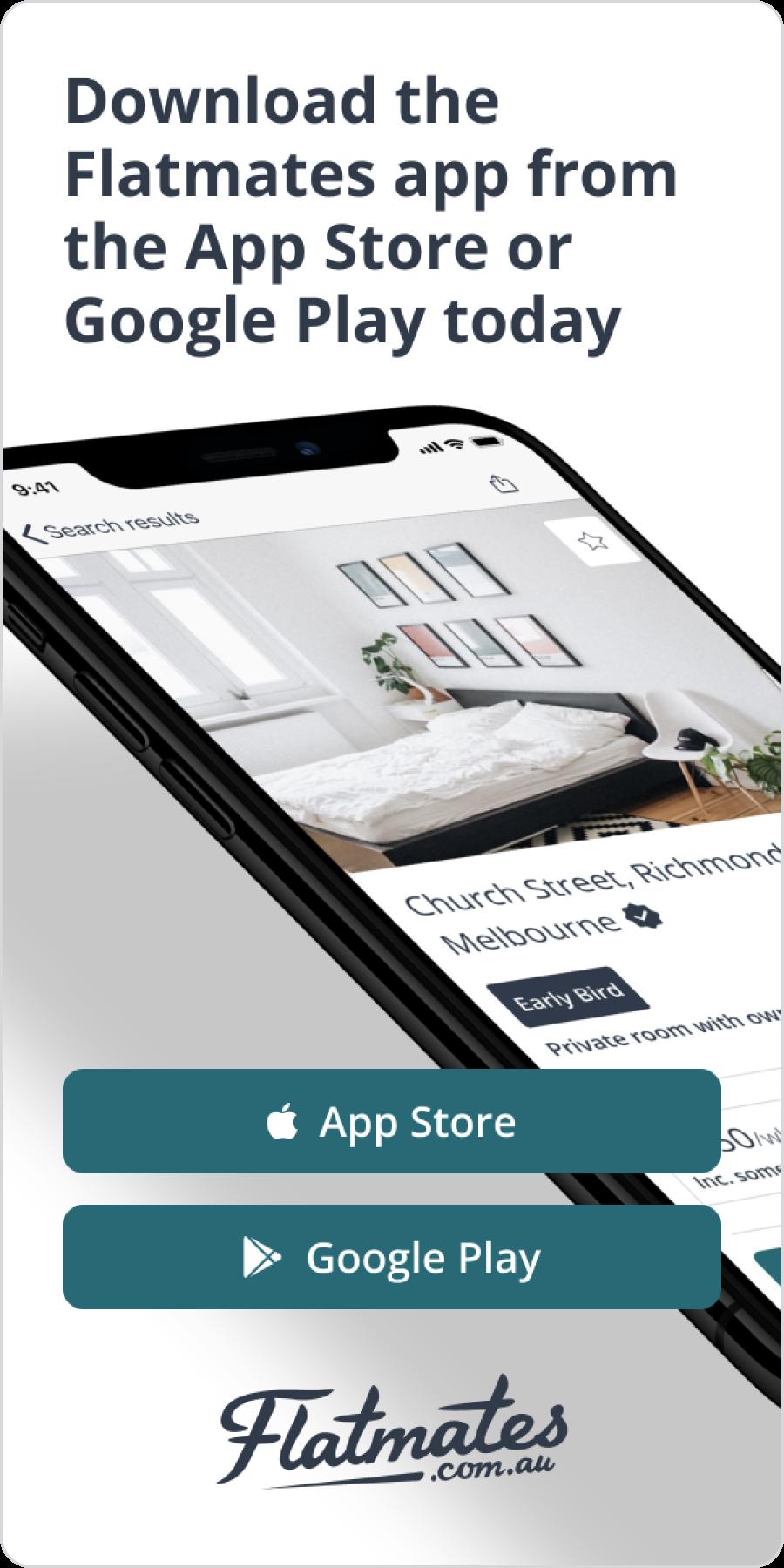 flatmates app advertisement